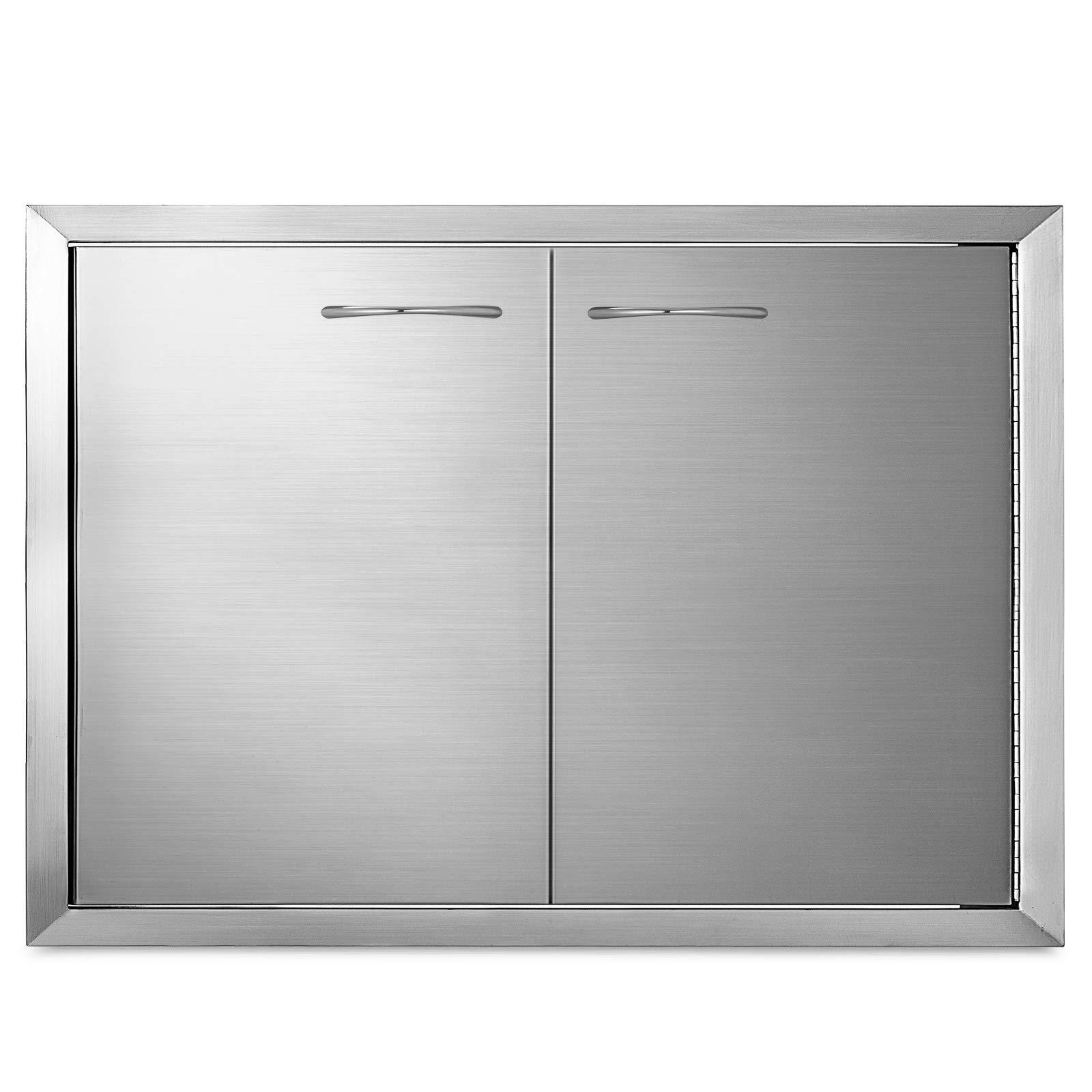 Mophorn BBQ Access Door 33 x22 Inch Stainless Steel BBQ Double Door ...