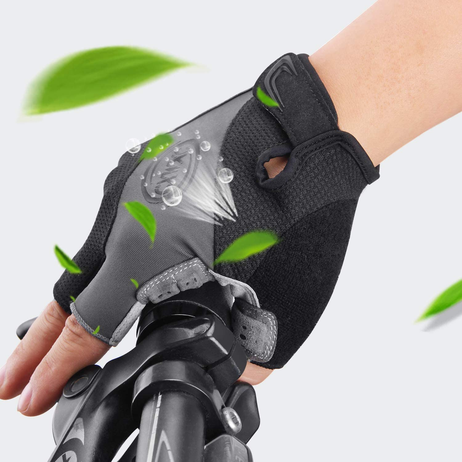 CXWXC Cycling Gloves for Men Women Anti-Slip Half Finger Glove for Fitness Cycling Training Outdoor Sports Breathable Gel Road Mountain Bike Riding Gloves