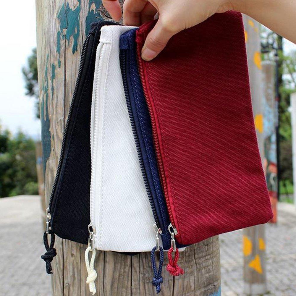 Cosanter colore bianco Red portamatite a tinta unita utilizzabile anche per occhiali e trucchi