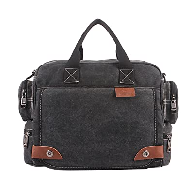ABage Men's Vintage Canvas Travel Laptop Crossbody Shoulder Messenger Bag Satchel