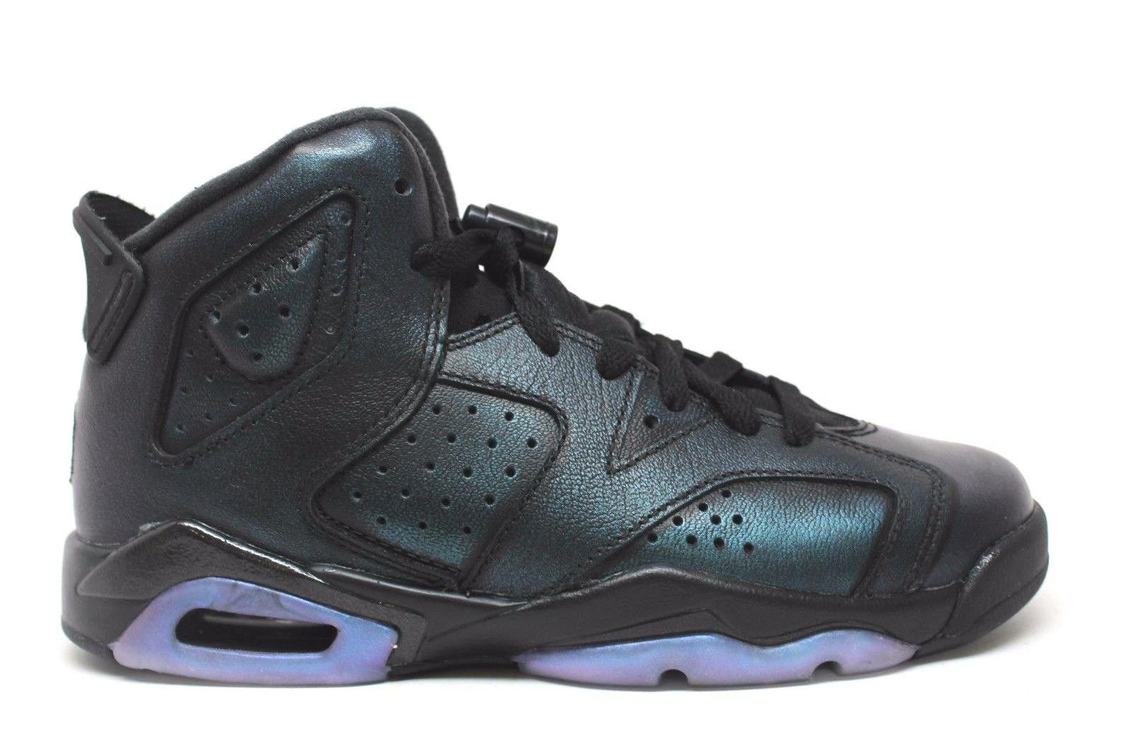 Nike Jordan Kids Air Jordan 6 Retro AS BG Black/Black White Basketball Shoe 4 Kids US by Jordan