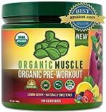 Organic Muscle #1 Rated Organic Pre Workout Powder-Natural Vegan Keto Pre-Workout