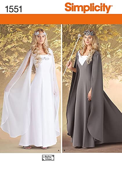 Simplicity 1551 Misses Costume Fantasy Dress Sewing Pattern