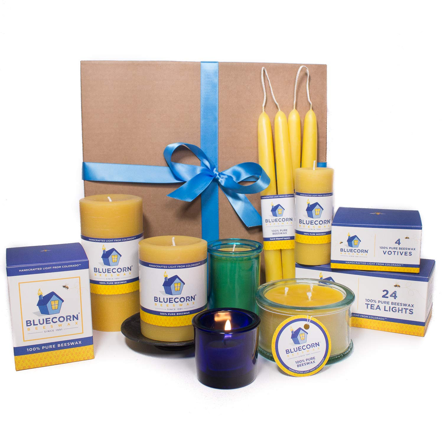Bluecorn Beeswax Raw Beeswax Candle Gift Set (Large)