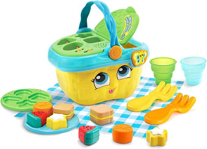 Amazon.com: LeapFrog Shapes and Sharing Picnic Basket (Frustration Free Packaging), Yellow: Toys & Games