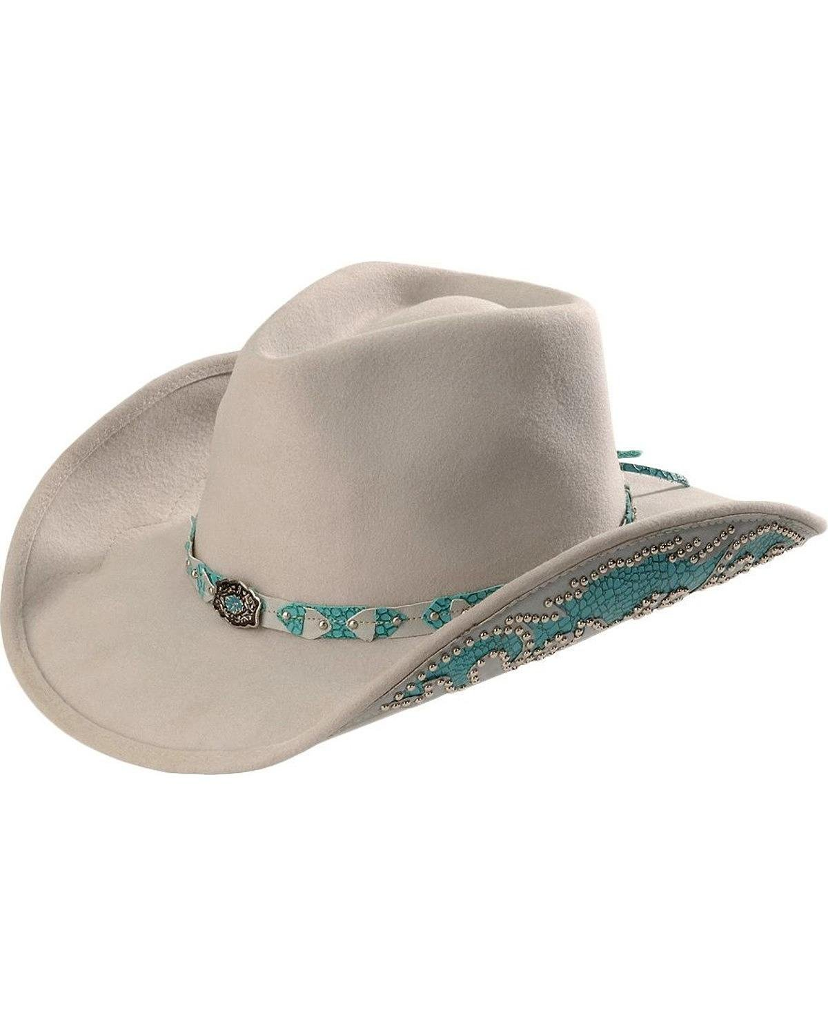 Bullhide Women's Grey Natural Beauty Wool Cowgirl Hat Silverbelly Medium