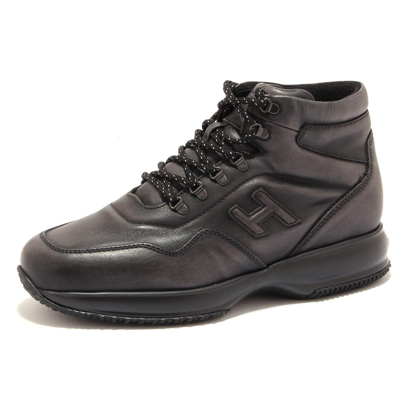 Hogan 6842U Sneaker Uomo Interactive New Hi-Top Black/Grey Shoe Men Nero