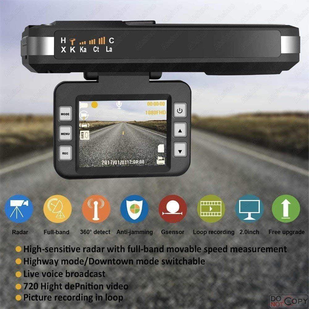 Speed Trap Detector 2018 New Radar detector with HD DVR Dash Cam by SmartPro