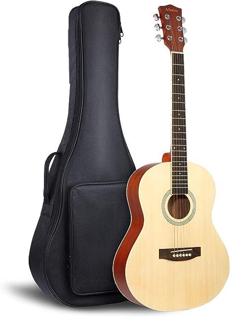 Afuaim Guitarra acústica de viaje Dreadnought de 36 pulgadas con ...