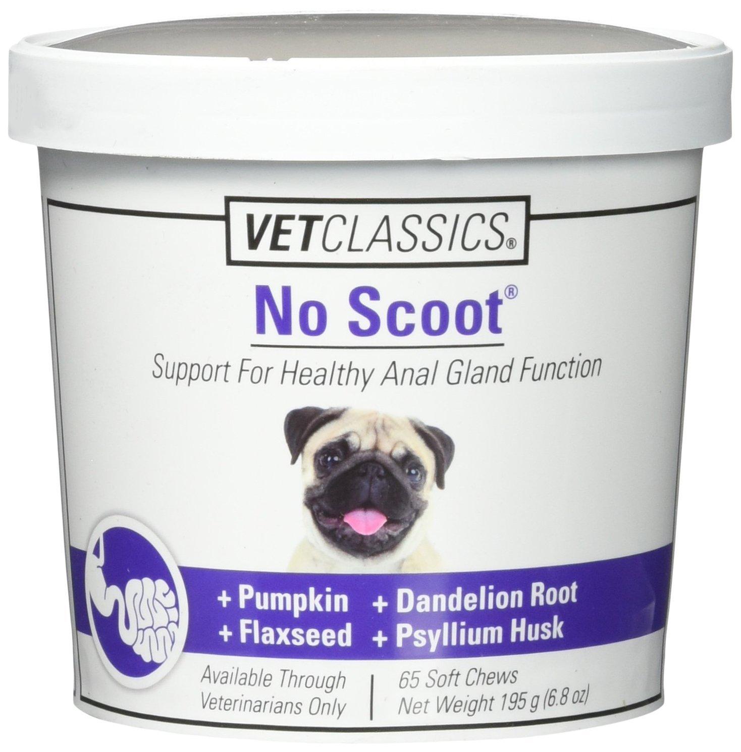 Amazon.com : Vet Classics No Scoot (65 Soft Chew) : Pet Digestive Remedies  : Pet Supplies