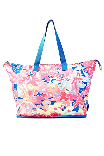 28f2ed47cb Amazon.com  Lilly Pulitzer Wanderlust Packable Travel Tote  Bennet Blue Bay  Dreamin   Shoes