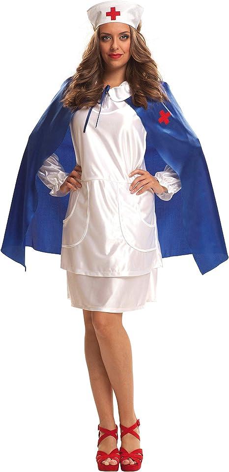 My Other Me Me Me - Disfraz de Enfermera con capa azul, talla M-L ...