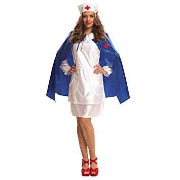 My Other Me Me - Disfraz Enfermera con capa azul adulto, talla S ...