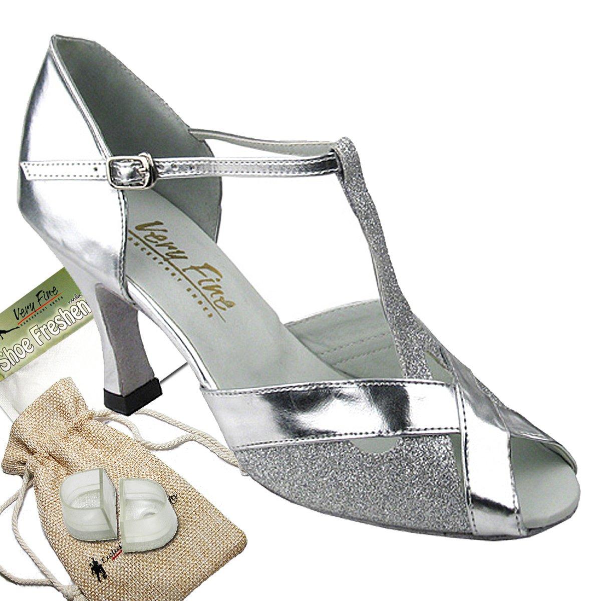 レディース社交ダンスシューズウェディングサルサタンゴ靴2703eb comfortable-very Fine 2.5