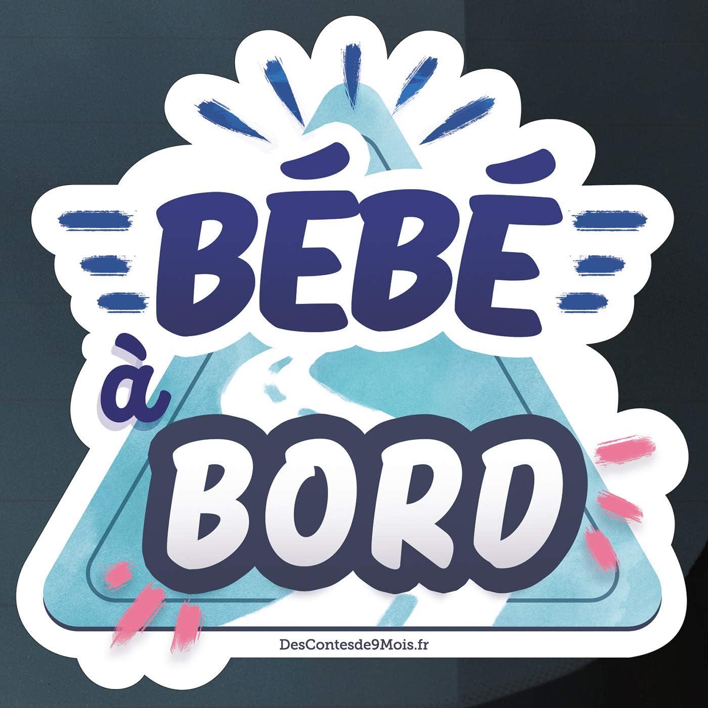 Bleu et rose Nouveau Sticker B/éb/é /à bord color/é et r/ésistant aux intemp/éries autocollant auto original