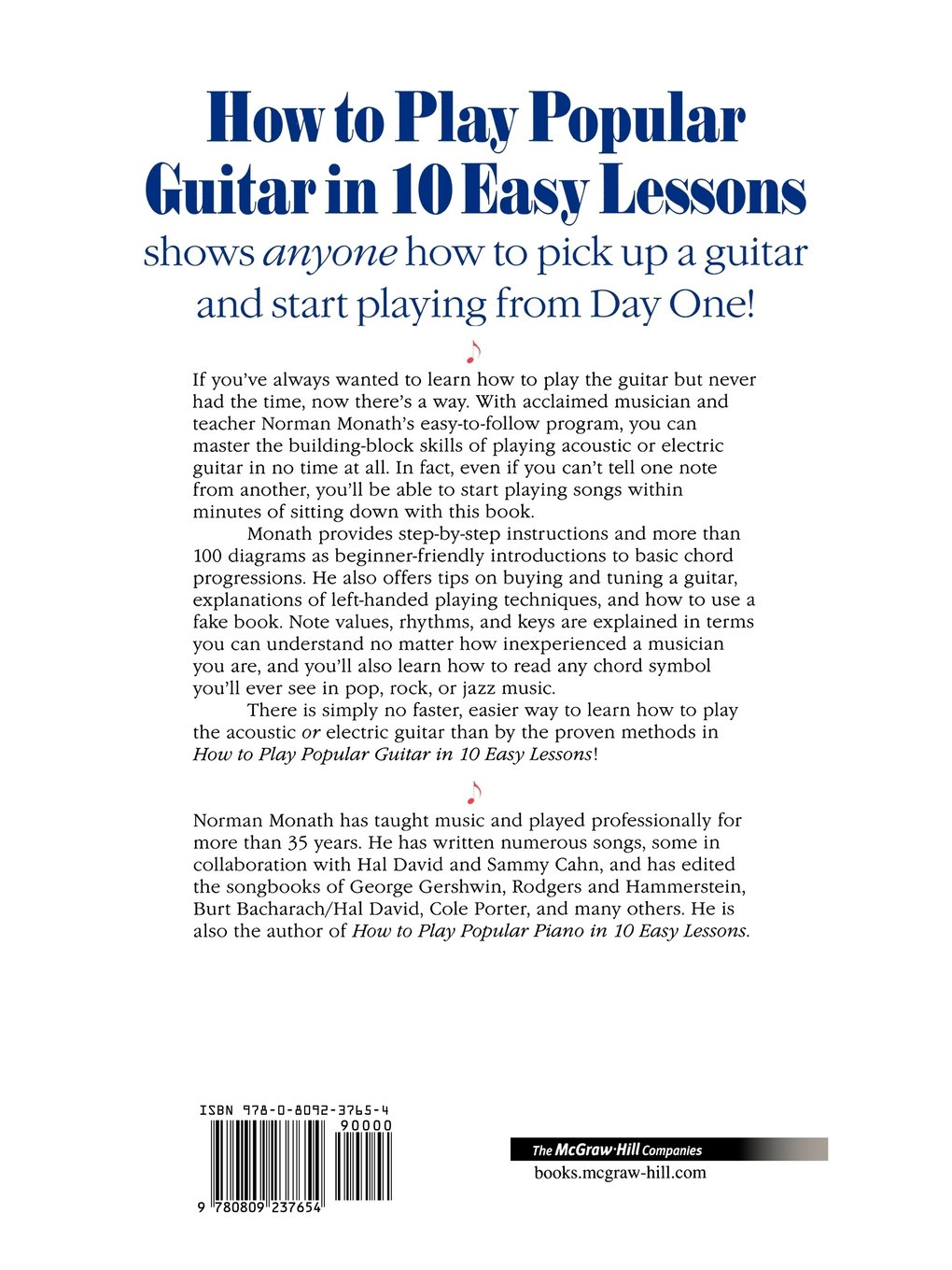 How To Play Popular Guitar In 10 Easy Lessons Norman Monath