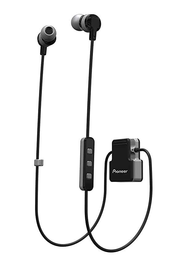 Pioneer SE-CL5BT Clip Wear Active in-Ear Wireless Headphones (Grey) In-Ear Headphones at amazon