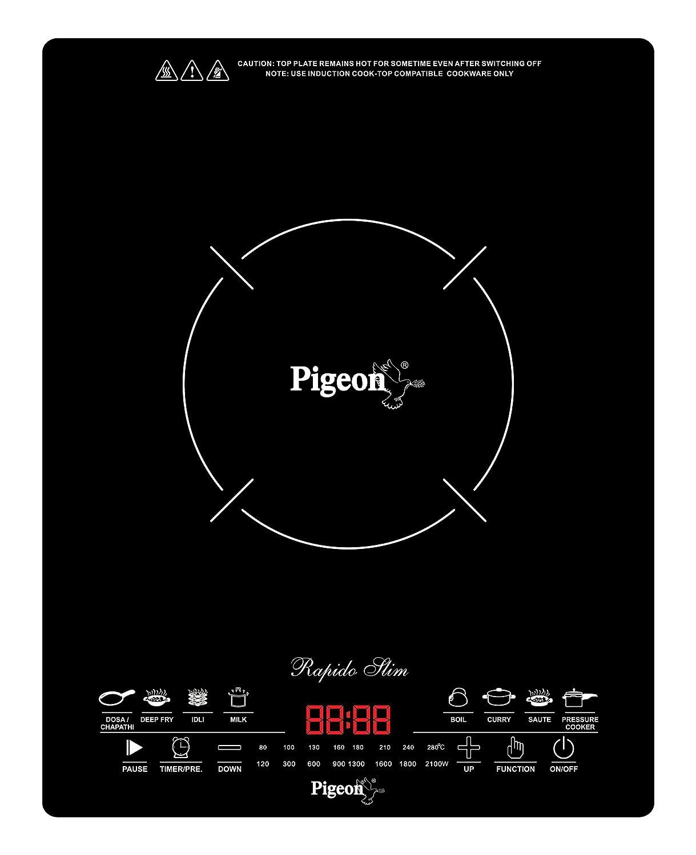Pigeon by Stovekraft Rapido Slim 2100 Watt Induction Cooktop