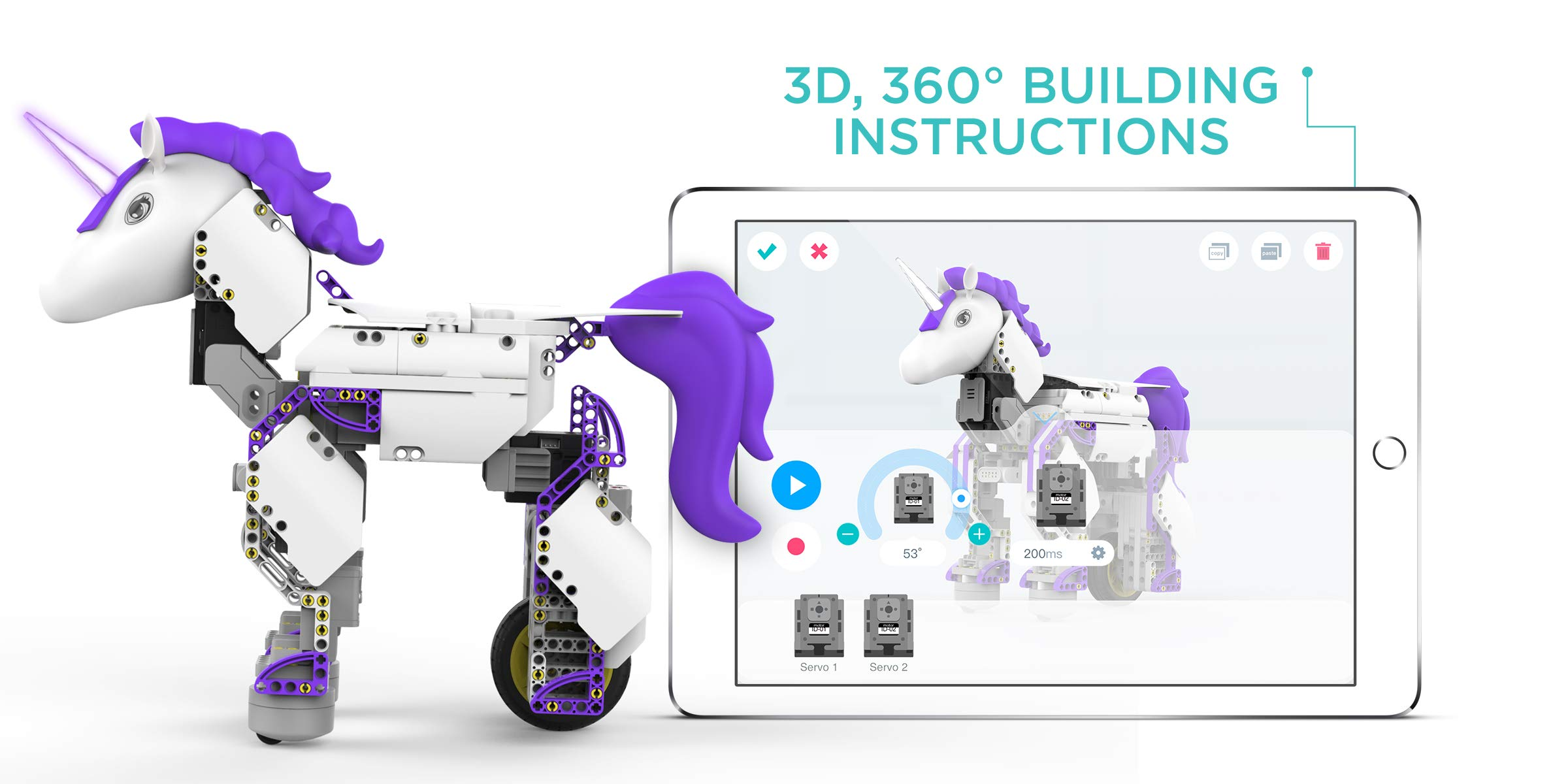 UBTECH Mythical Series: Unicornbot Kit-App-Enabled Building & Coding Stem Learning Kit by UBTECH (Image #2)