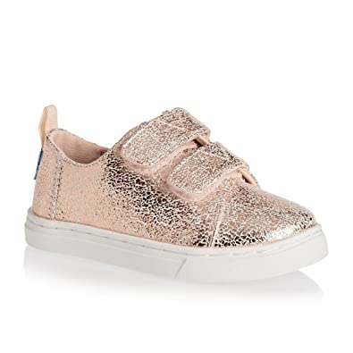 9619b39a28690 TOMS Kids Baby Girl's Lenny (Infant/Toddler/Little Kid) Rose Gold Crackle  Foil 9 Toddler MM