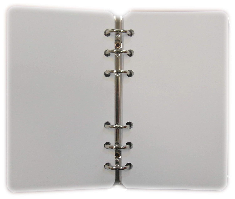 tipome.com Ricarica Ricambio 200 Fogli Bianchi 10x17cm per Agenda 6 Anelli Formato A6 Personal
