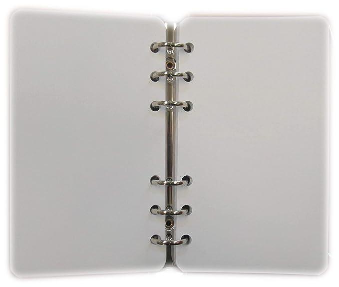 200 Hojas - PAPIEL 120 gr. Blanco - Recambio para archivador - tamaño A6 Personal-Midi 10x17cm