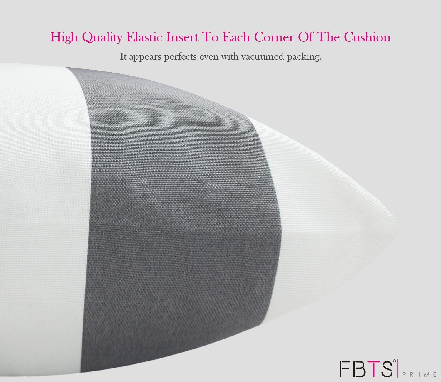 FBTS Prime Outdoor Decorative Pillows with Insert Orange and White ...