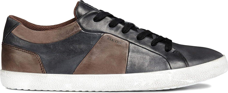Geox U Smart B, Zapatillas para Hombre 40 EU|Negro (Black/Coffee C0630)
