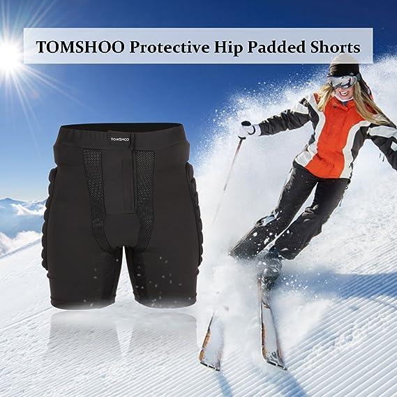 TOMSHOO Pantalones Acolchados con protección de Cadera para Patinaje y Esquí(M,L,XL,XXL): Amazon.es: Deportes y aire libre