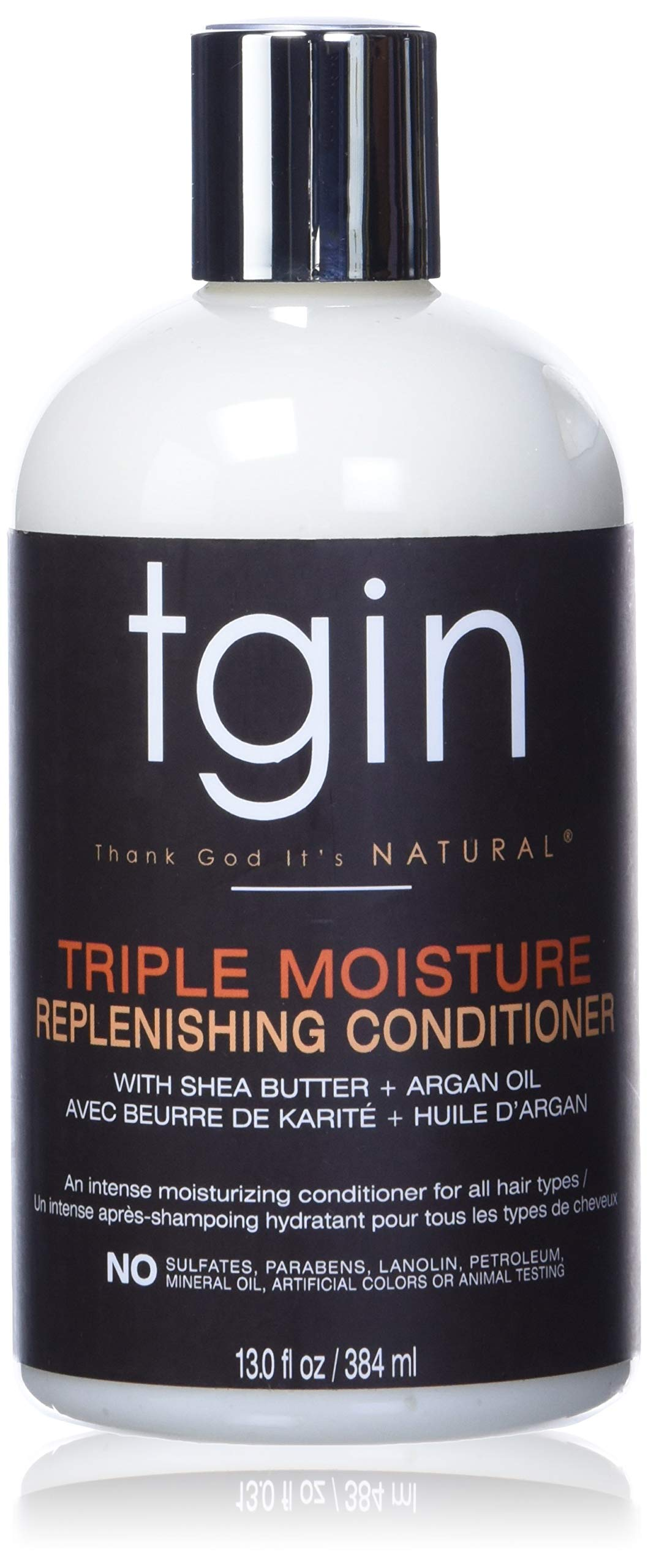 TGIN Thank God It's Natural Triple Moisture Replenishing Conditioner With Shea Butter + Argan Oil 13 fl oz