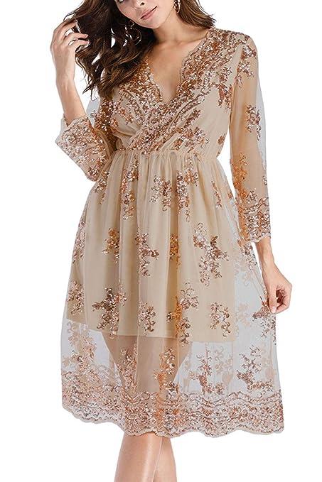 Vestido De Túnica Para Mujer Primavera Otoño Elegante Media