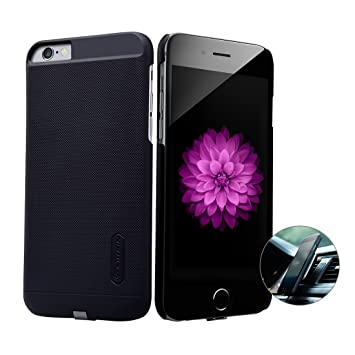 iPhone 6 / 6s Qi Receptor, Nillkin Ultra Slim Receptor de carga inalámbrica Funda de teléfono Fuerte Funda magnética para Cargador de coche ...