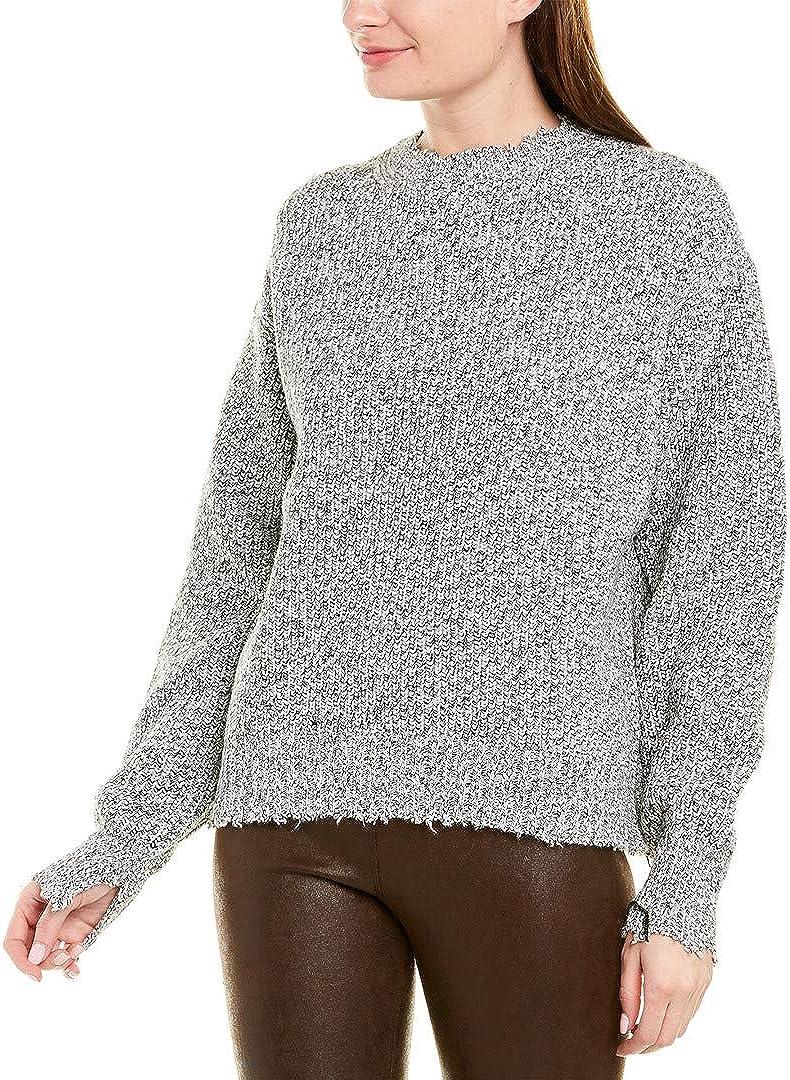 M Black Helmut Lang Womens Distressed Sweater