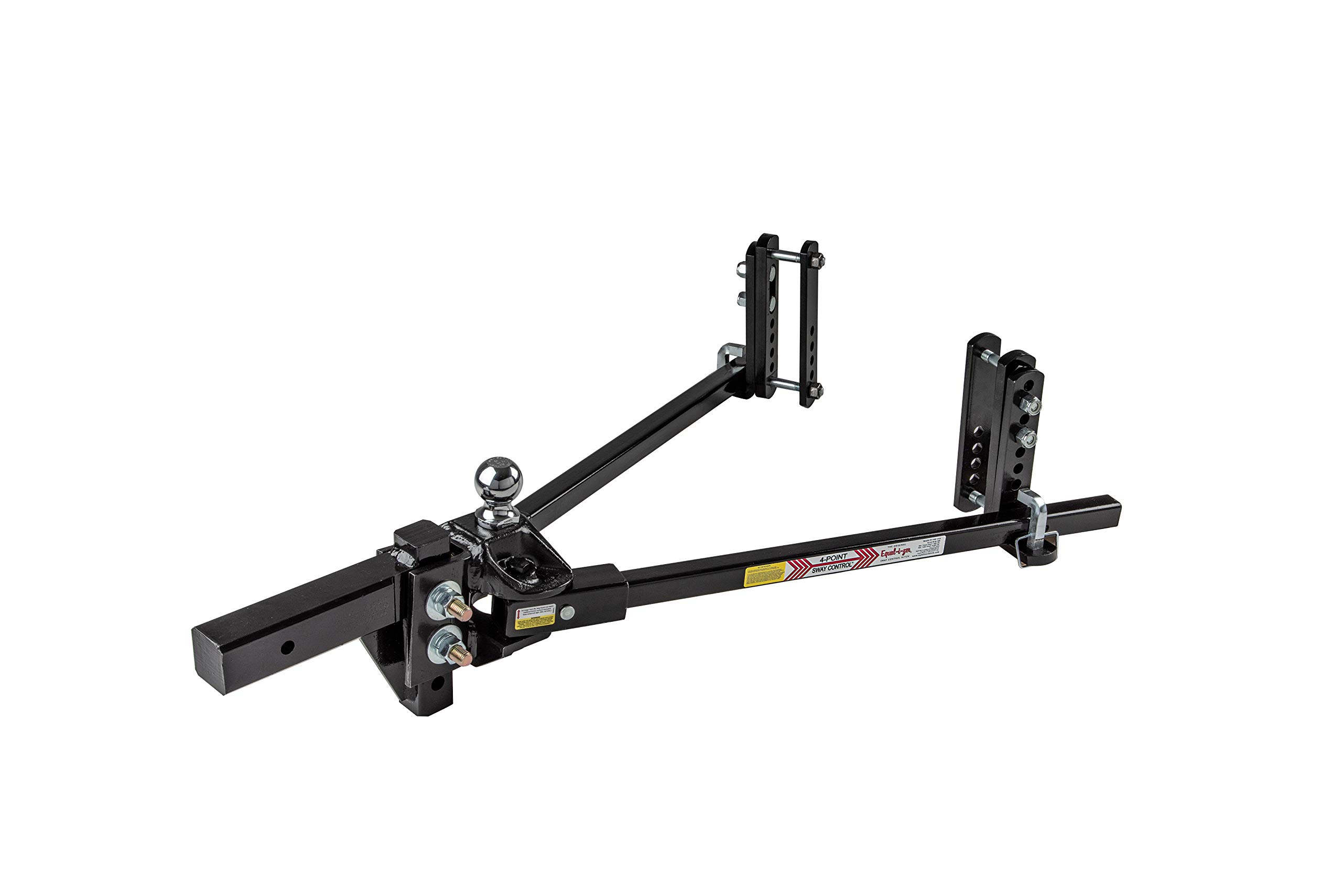 Equal-i-zer 4-Point Sway Control Hitch, 90-00-1600, 16,000 Lbs Trailer Weight Rating, 1,600 Lbs Tongue Weight Rating, Weight Distribution Kit Includes Standard Hitch Shank, Ball NOT Included by Equal-i-zer