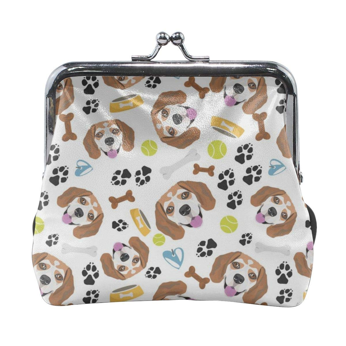 Smiling Dog Beagle Cute Buckle Coin Purses Buckle Buckle Change Purse Wallets