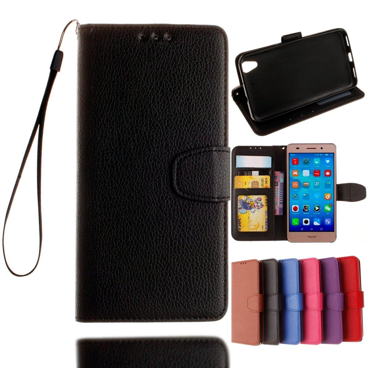 Huawei Honor 5A / Y6II Y6 2 Custodia, adorehouse Custodia Flip Pelle Cover Multi Funzione Wallet Case Flip di Supporto a Portafoglio Esterna Cover per Huawei Honor 5A / Huawei Y6II Y6 2 (Rete)