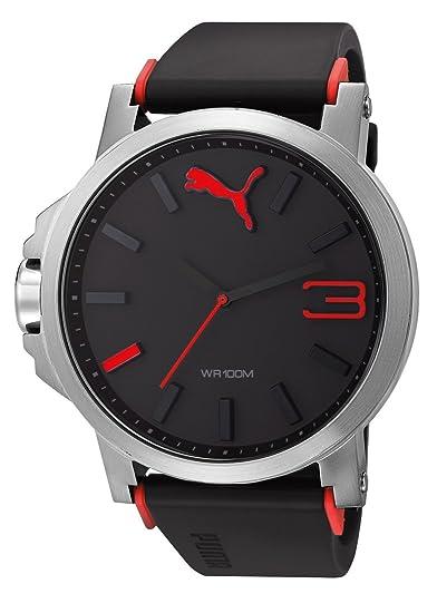 e7963af0f Reloj PUMA analógico Negro con Rojo para hombre: Puma: Amazon.com.mx ...