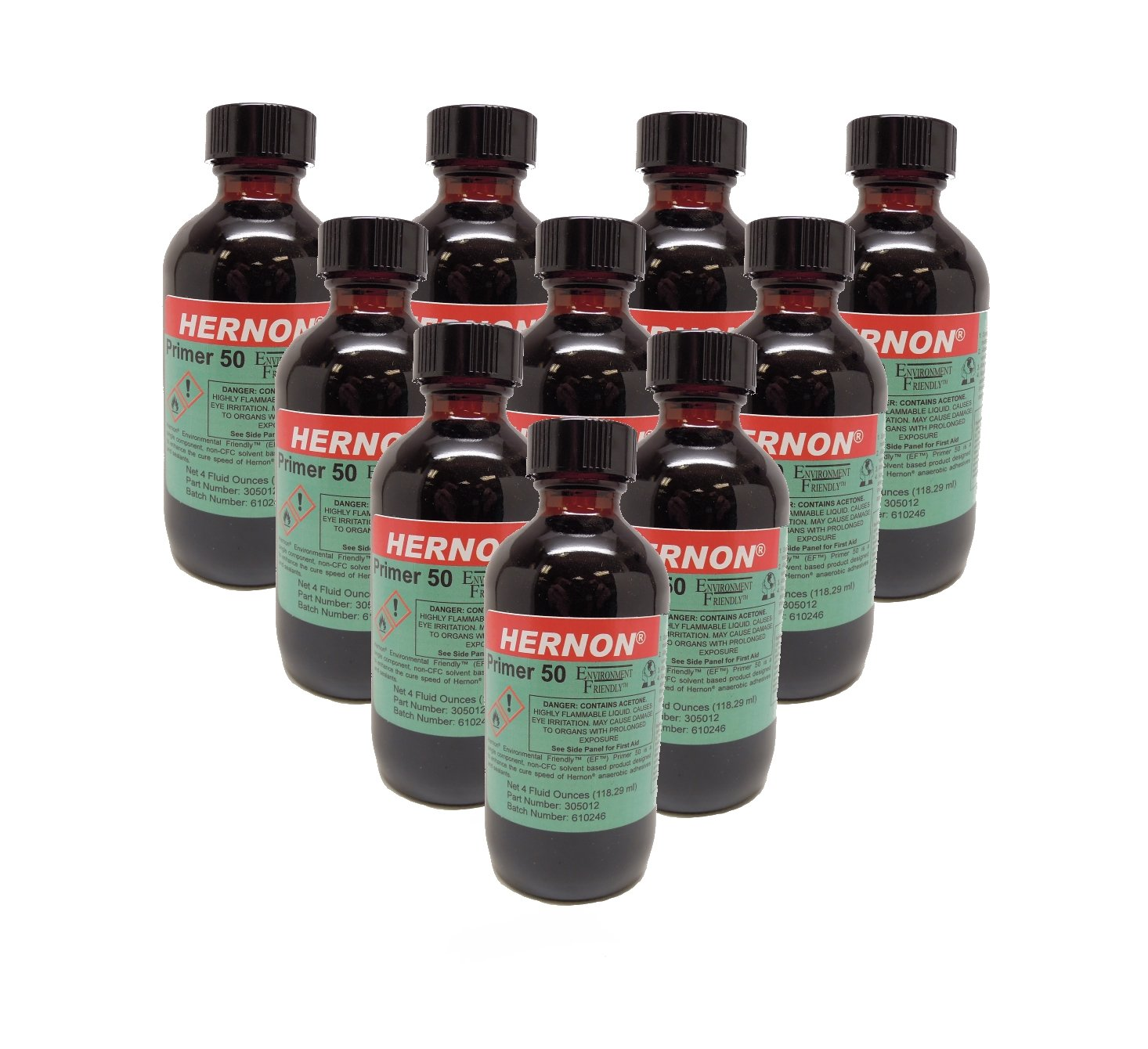 Hernon EF Primer 50 4-10 DEF Single Component Adhesive - 4 oz. Bottle with Pump 10-Pack
