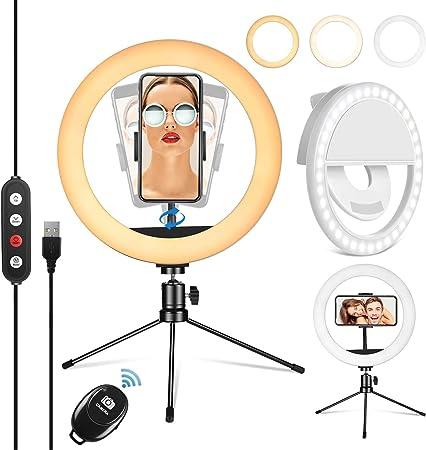 Peheshe 10 Zoll Ringlicht Mit Stativ Selfie Kamera