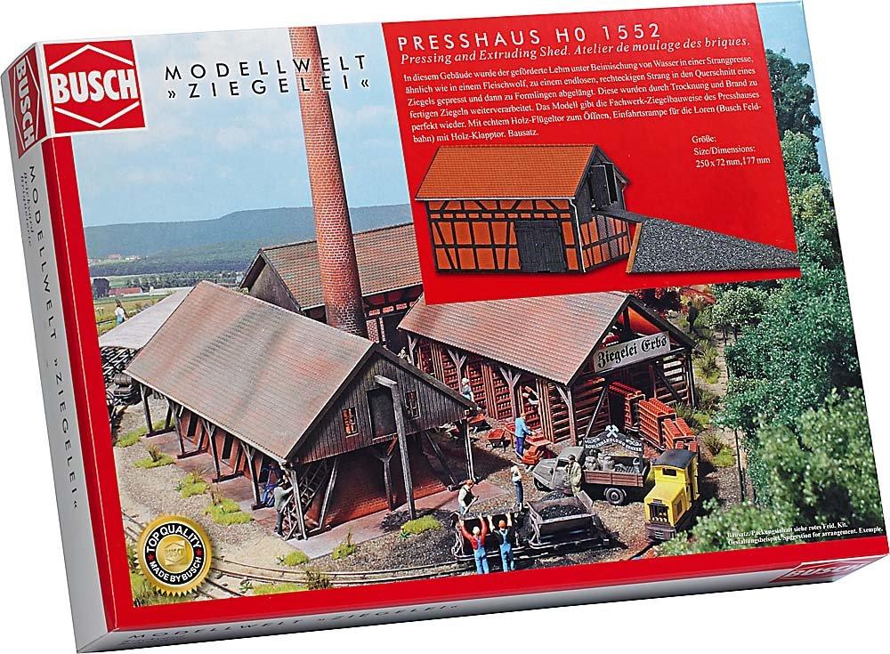 Busch 1552 - Modellismo, stabilimento per la produzione di mattoni