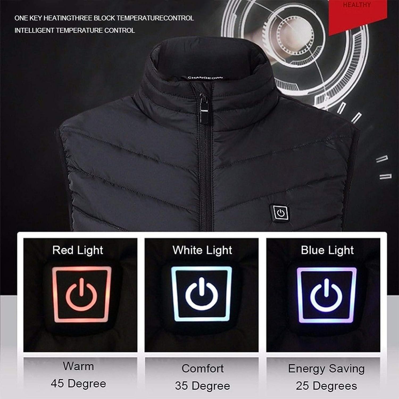 Chaleco Ligero USB para Invierno Deportes al Aire Libre QQA Chaleco Calefactable El/éCtrico con Calentador de Cuello
