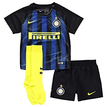 brand new cf416 4c983 Nike Inter Milan Home 2016 2017 Mini Kit Childs Black/Blue ...