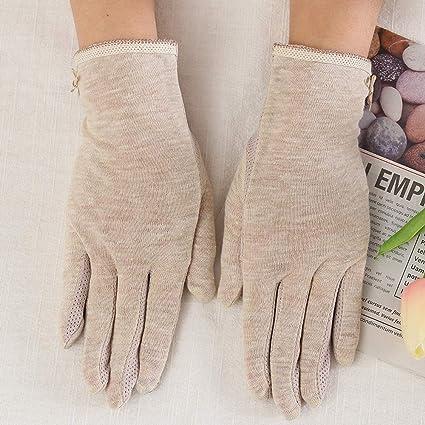 guantes de pantalla t/áctil para conducir al aire Loe Elegantes guantes de algod/ón con protecci/ón solar guantes el/ásticos y transpirables secci/ón delgada para el verano para mujer UV antideslizante