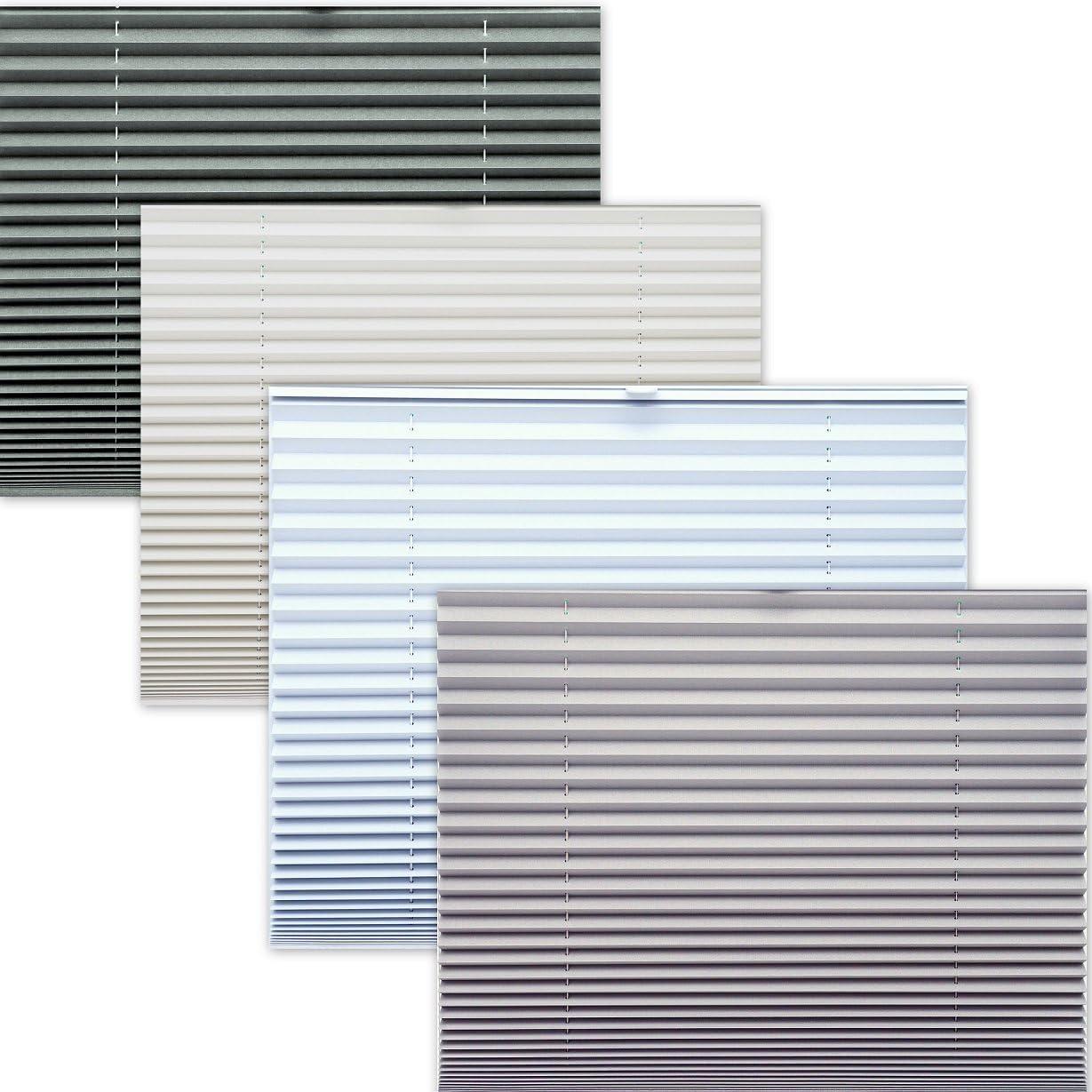 MEGA AUSWAHL 80 GR/Ö/ßEN im SHOP THERMO BLACK OUT PLISSEE 40x150 cm FALTROLLO WEISS SILBER 100/% VERDUNKELND