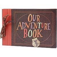 Moniel 40 Folhas Nosso Livro de Aventura DIY Álbum de Scrapbook Do Vintage Foto 29x19 cm / 11.4x7.5in para o Aniversário…