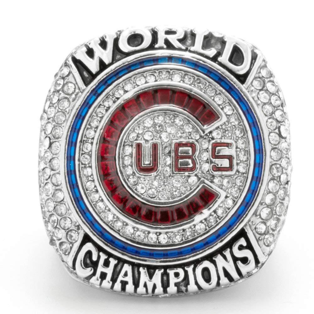 WEII Anillo de Moda Creativa Anillo de campeones de Chicago Cubs Anillo de Regalo de Ventilador de Anillo de Moda para Hombres