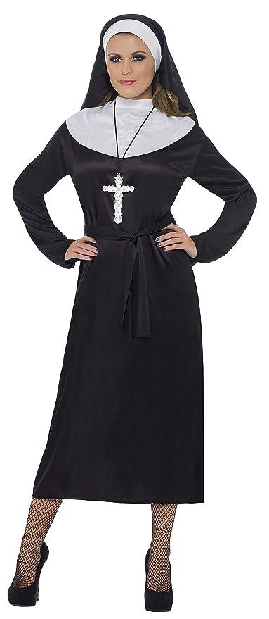lucentezza adorabile negozio del Regno Unito check-out SMIFFYS Smiffy's Costume Suora, Nero, con abito, cintura e copricapo Donna,  M-EU Dimensione 40-42, 20423M