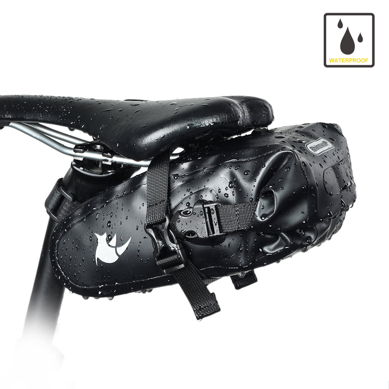 Waterproof Bike Saddle Bag Seat Tail Bag Rear Light Hook Cycling Accessory