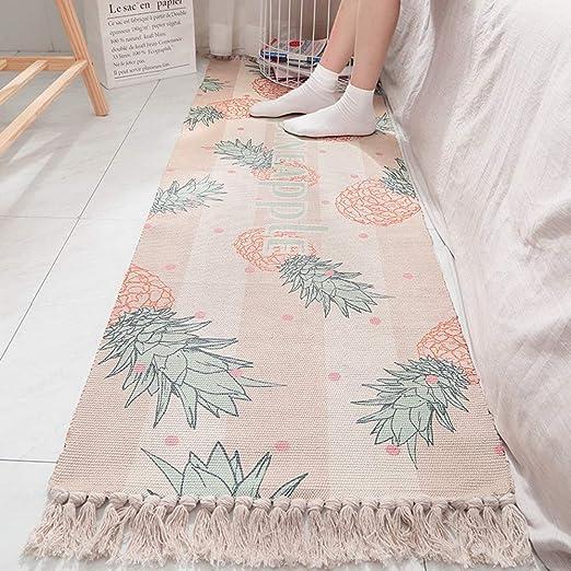 YOMRIC - Alfombra de baño, algodón estampado, alfombra de chorro ...