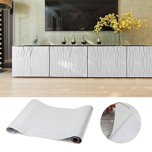 Kinlo 0.61*5M grau PVC Möbelfolie Dekofolie Küchenschrank ...